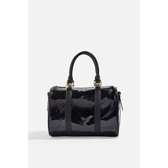 Madrid Medium Patent Bowler Bag